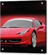 Ferrari F458 'iconic Italian Sports Car' Acrylic Print