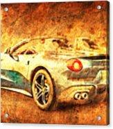 Ferrari F60 America, Golden Poster, Birthday Gift For Men Acrylic Print
