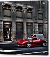 Ferrari In Rome Acrylic Print