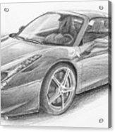 Ferrari Acrylic Print