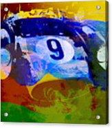 Ferrari Testarossa Watercolor Acrylic Print by Naxart Studio