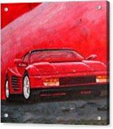 Ferrari Testarrossa Acrylic Print
