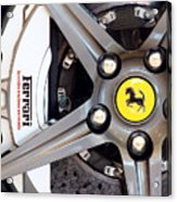 Ferrari Wheel Op 121915 Acrylic Print