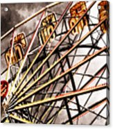 Ferris Wheel At Sunset Acrylic Print