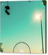 Ferris Wheel Sunset Acrylic Print