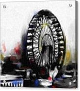 Ferris Wheel Tower Acrylic Print