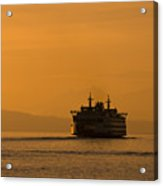 Ferry At Sunset Acrylic Print