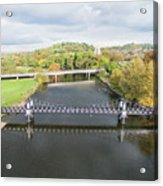 Ferry Bridge Burton On Trent Acrylic Print