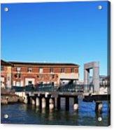 Ferry Building And Pinnacle Building - San Francisco Embarcadero Acrylic Print