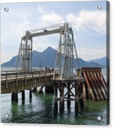 Ferry Dock And Pier At Porteau Cove Acrylic Print
