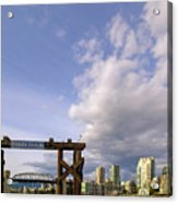 Ferry Dock At Granville Island In British Columbia Acrylic Print