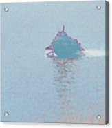 Ferry in Fog Acrylic Print