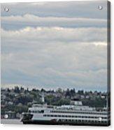 Ferry In Seattle Washington Acrylic Print