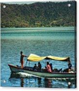 Ferry - Lago De Coatepeque - El Salvador I Acrylic Print