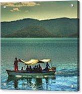 Ferry - Lago De Coatepeque - El Salvador Acrylic Print