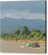 Ferry On The Chindwin 2 Acrylic Print