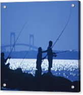 Ferry Road Fishermen Acrylic Print