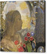 Fertility. Woman In Flowers Acrylic Print