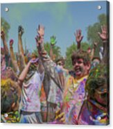 Festival Of Color Acrylic Print