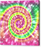 Festival Spiral Bright Colors- Art By Linda Woods Acrylic Print