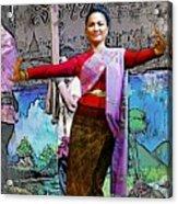 Festive Folk Dance Acrylic Print