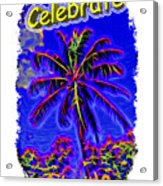 Festive Palm Acrylic Print