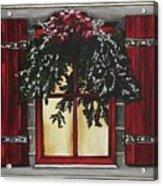 Festive Window Acrylic Print
