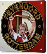 Feyenoord Rotterdam Painting Acrylic Print