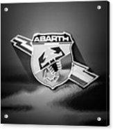 Fiat Abarth Emblem -ck1611bw2 Acrylic Print