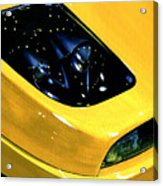 Fiat Coupe In Yellow Acrylic Print