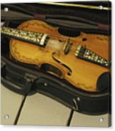 Fiddle In Case Acrylic Print