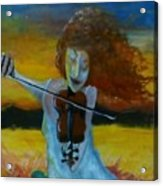 Fiddler and the Fire  Acrylic Print