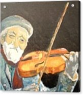 Fiddler Blue Acrylic Print by J Bauer