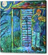 Fiddling At Midnight's Farm House Acrylic Print