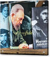 Fidel At The Used Book Sellers Market Acrylic Print
