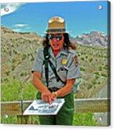 Field Archeologist Ranger In Quarry In Dinosaur National Monument, Utah  Acrylic Print