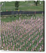 Field Of Flags - Gotg Arial Acrylic Print