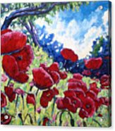 Field Of Poppies 02 Acrylic Print