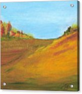 Fields In Fall Acrylic Print