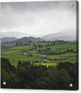 Fields In The Hill Acrylic Print