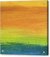 Fields Of Gold 1 - Abstract Summer Landscape Painting Acrylic Print