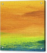 Fields Of Gold 2 - Abstract Summer Landscape Painting Acrylic Print