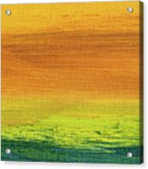 Fields Of Gold 3 - Abstract Summer Landscape Painting Acrylic Print