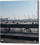 Fields Of Snow Acrylic Print