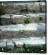 Fieldstone Stairs New England Acrylic Print