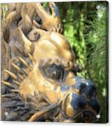 Fierce Foo Dog Face Acrylic Print