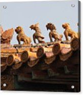 Fierce Guardians Of The Forbidden City Acrylic Print