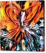 Fiery Crystal Acrylic Print