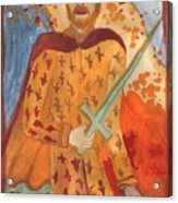 Fiery King Of Swords Acrylic Print