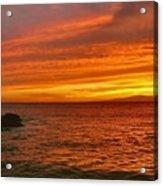 Fiery Makena Sunset Acrylic Print